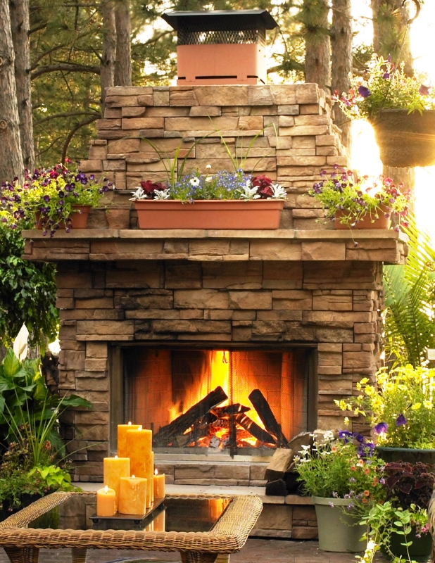 Outdoor Gas Logs: Vented Outdoor Gas Log Sets : Gas Log Guys.com