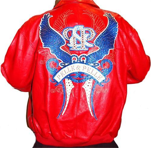 Pelle Pelle Wings Back Red Mens Leather Jacket Winter/Spring 2010