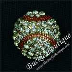 Rhinestone Softball Slide Buckle CLOSE OUT
