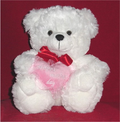 Teddy Bear Gift on Character Teddy Bears   Happy Mother S Day  14  Plush White Teddy Bear