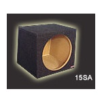 "Atrend 15SQ Single 15"" Small Sealed Subwoofer Box 2.0 Cu Ft"