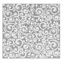 Lillypilly Aluminum Square Metal Sheet Silver With Paisley Pattern - 3x3 Inch