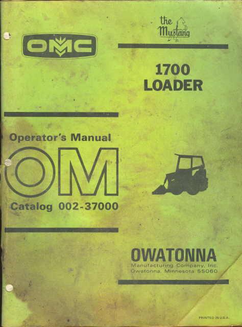 omc 1700 mustang parts manual pdf