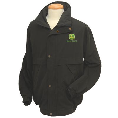 John Deere Black Outer Shell Jacket