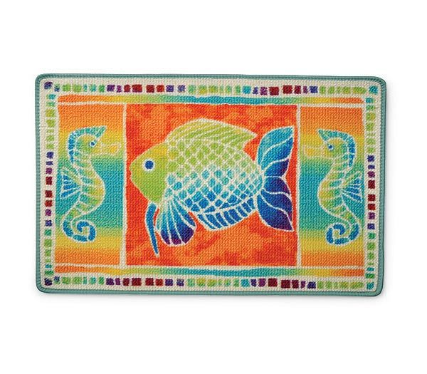 Tropical Fish Fantasy Bathroom Rug - XFISHF014T | MonsterMarketplace.