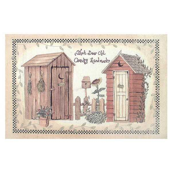 Amazon.com: Country Bath Outhouse Linda Spivey Wall Decor Framed