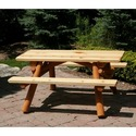 Moon Valley Rustic Nicholas Collection 4' Child's Picnic Table M400 Finish: Unfinished (M400unfinished)