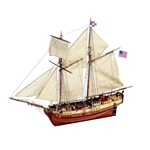 Independence 2-Masted 1775 Sailing Ship 1-35 Artesania Latina