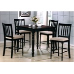 5PC Berkeley Espresso Tile-Top Counter Dining Table Set