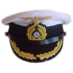 WWII German Navy Uniforms: U-boat Captain's Dress Hat, reproduction, #227