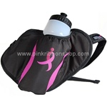 Pink Ribbon Water Bottle Hydration Waist Pack by New Balance - Black