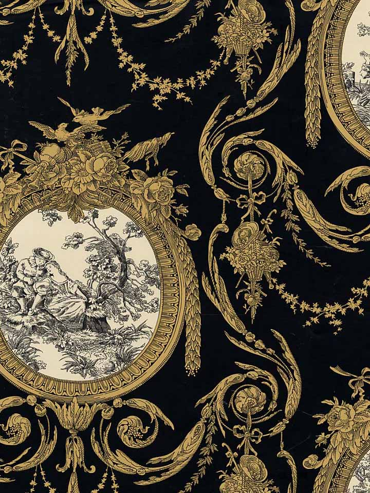 modern toile de jouy wallpaper