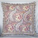 Anokhi Paisley Boa Print Square Cotton Cushion Cover; 18x18
