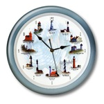 "Lighthouse Musical Clock (13"")"