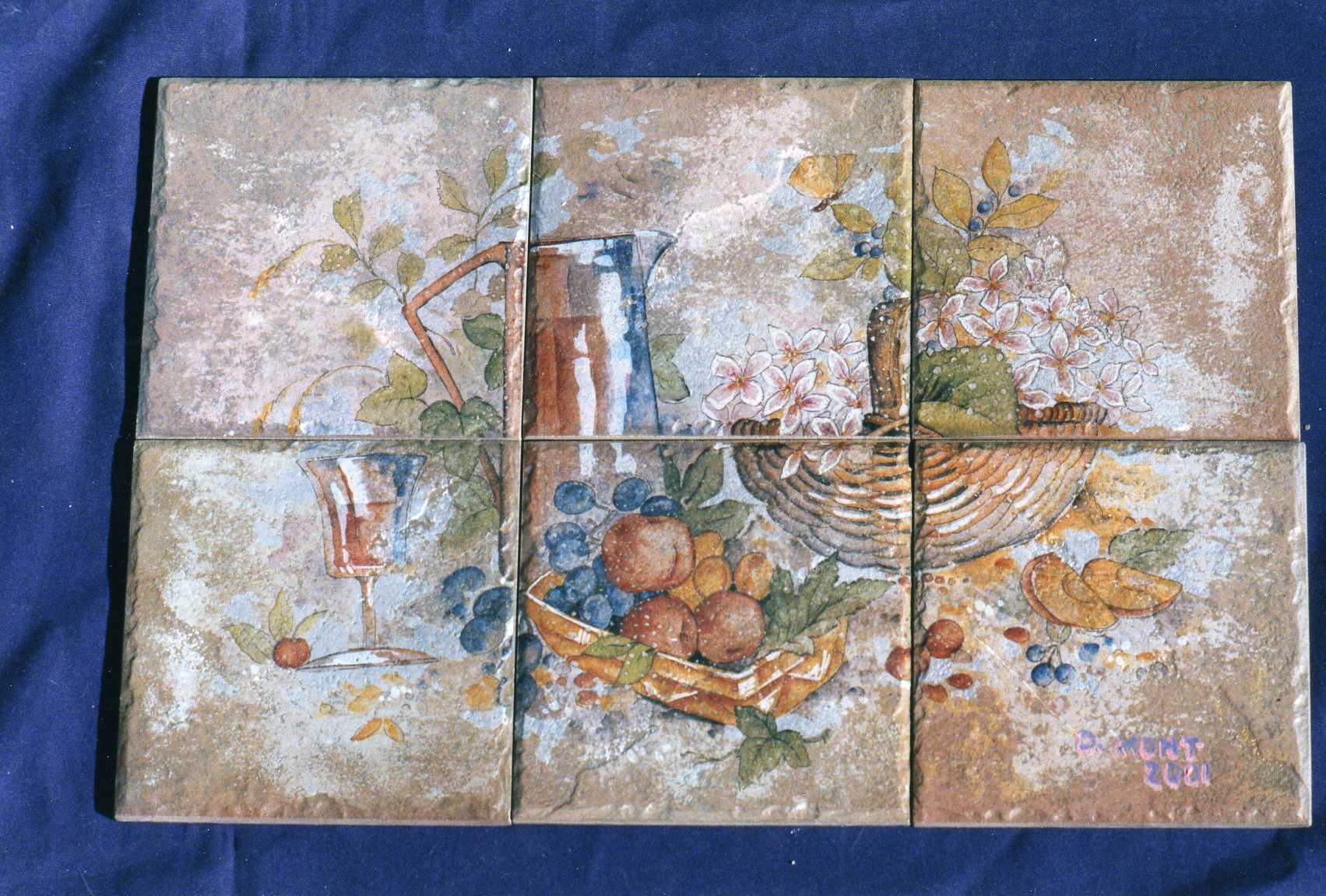 Outdoor ceramic tile murals