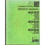 Mitsubishi 4G33, 4G52, 4G54, engine service - Forklift applications
