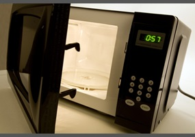 Radiation Does Not Escape A Microwave Door Opened Before The Cooking Stops:  Will People Be Brave Enough To Open The Door Now?