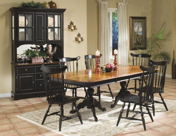 Dining table dining table country style for Country style dining room sets
