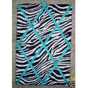 Zebra With Turquoise French Memo Board( 10x15)