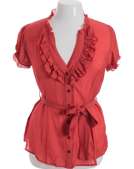 Women'S Plus Size Red Blouse 89