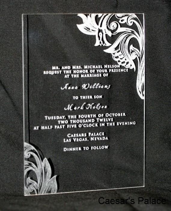 25 Acrylic Wedding Invitations Enlarge Image