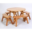 Moon Valley Rustic 5 Piece Dining Set M1300 Finish: Unfinished (M1300unfinished)