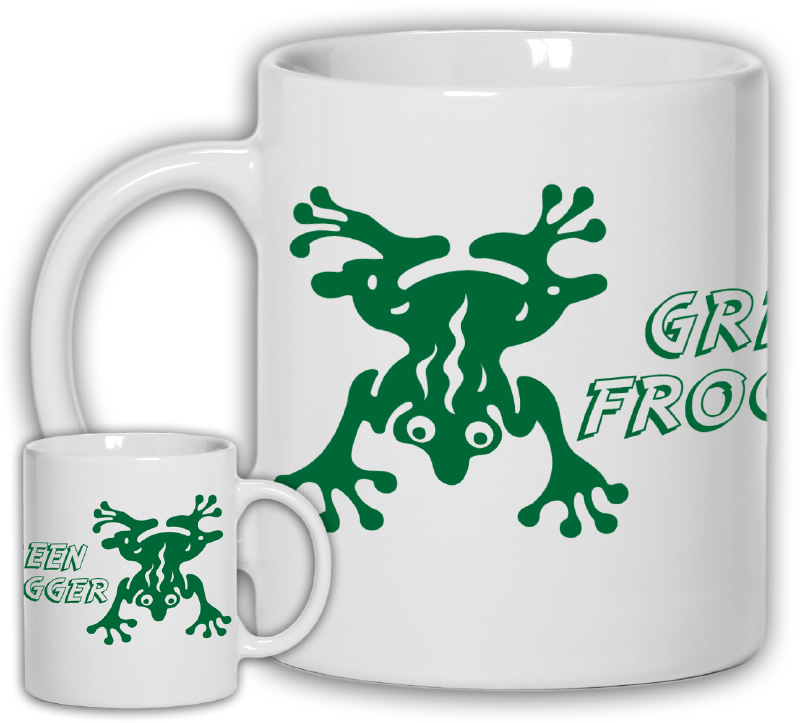 Alphabet Series: Green Frogger Mug – Pop Culture T-Shirts and ...
