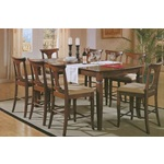 7PC Roasted Chestnut Pasadena Counter Dining Set