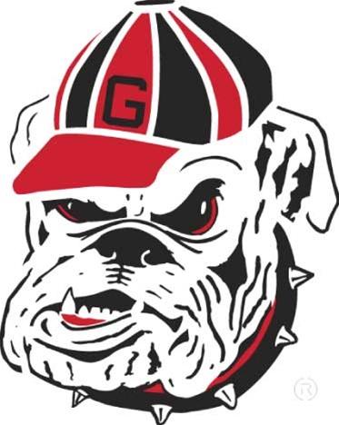 UGA Georgia Bulldogs Bulldog Head Stencil | MonsterMarketplace.com
