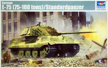 E75 German Tank http://www.monstermarketplace.com/hobby-and-art-supplies/german-e75-panther-75-100-ton-tank-1-35-trumpeter