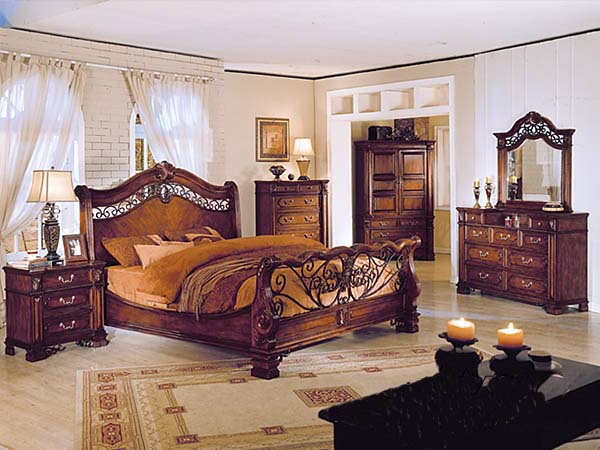 BEDROOM FURNITURE METAL WOOD IRON METAL BEDS