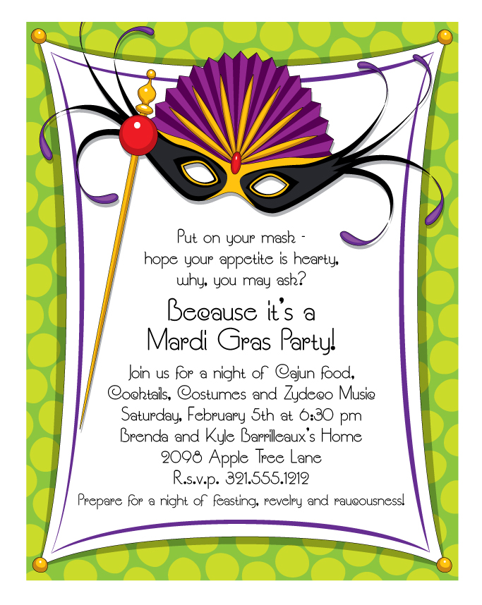 Mardi Gras Ticket Template