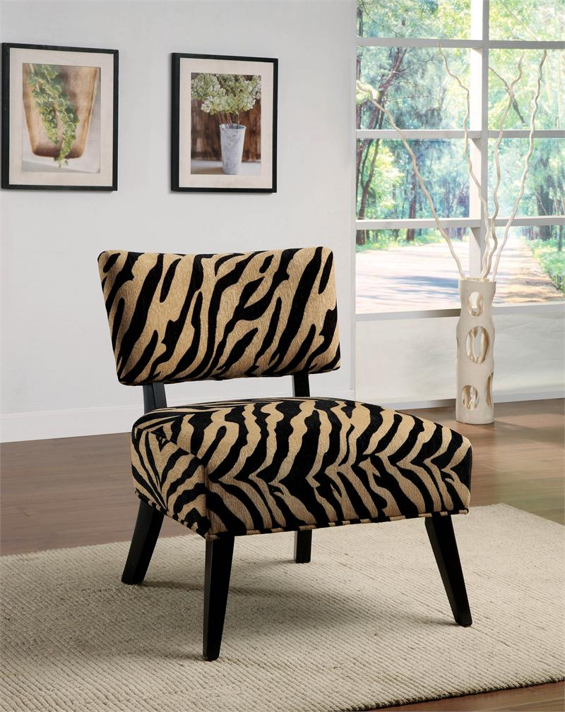 Zebra Print Accent Chair Decorating A Living Room