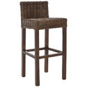 Safavieh St. Thomas Indoor Wicker Brown Bar Stool (Brown Wood) (FOX6502A)