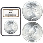 1925 PEACE DOLLAR NGC MS66