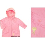 Alphabet Beautiful Pink Lightweight Spring Hooded Longer Jacket Size 12m