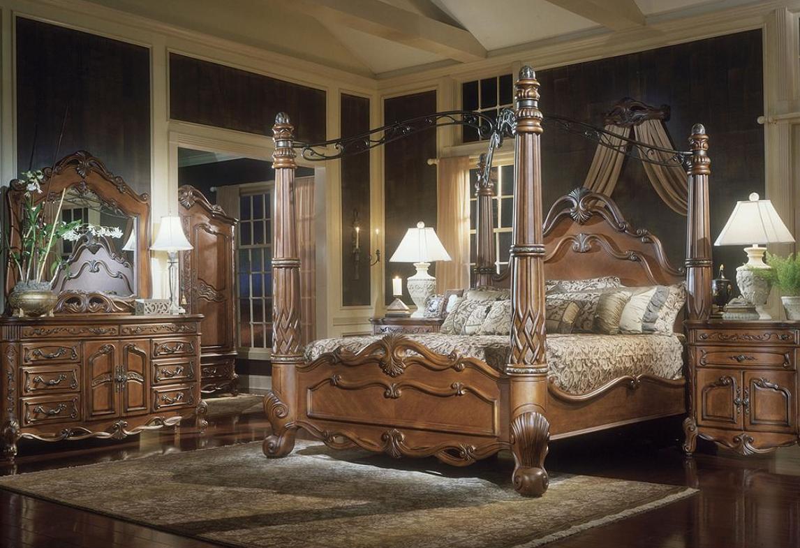 Victorian Mola Bedroom Set : size bedroom furniture aico furniture tresor piece canopy bedroom set ...