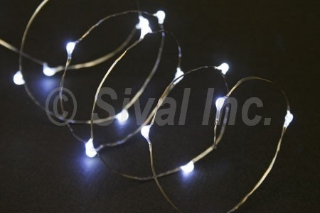 Battery Operated Decorative Lamps on Battery Operated Led Lights  20lt  Silver Wire  Various Colors