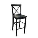 Whitewood Industries X back Black Bar Stool (S466133)