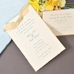 Gold Deckled Invitation Kit