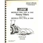 Long 1504, 1537, 1542, 1511, 1512, 1544, Tiller operators, parts