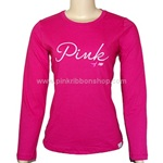 Breast Cancer Awareness PINK Long-Sleeved Tee by New Balance - Magenta