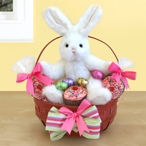 bunny cakes for easter. Happy Easter Bunny Cakes! This cuddly white unny makes an Easter delivery