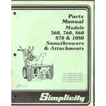 Simplicity 860 se snowblower