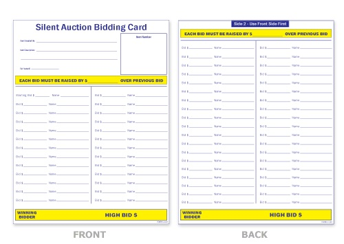 Free+Silent+Auction+Bid+Sheets+Template