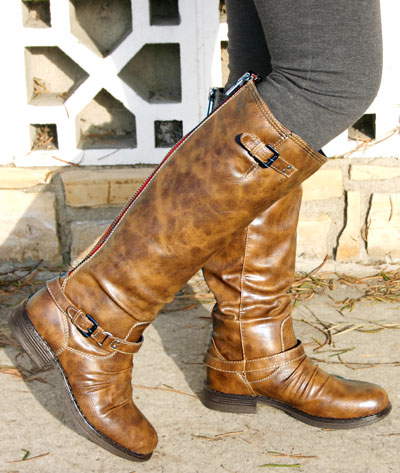 d59c5f88fa8 Brown Fashion Riding Boots on Madden Girl Zoiiee Brown Faux Leather Riding  Boot Monstermarketplace