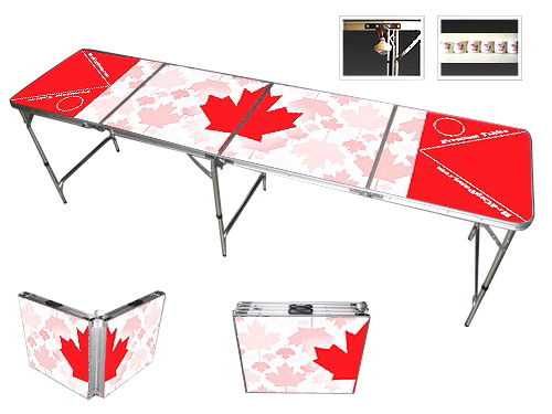 Canadian Flag Professional Beer Pong Table. This table has a unique design