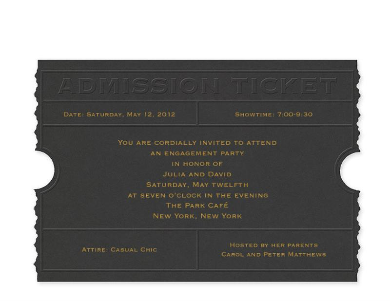 admission ticket invitation template