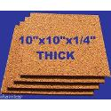 16 Natural Cork 10x10x1/4 Tiles Bulletin Message Board Panels