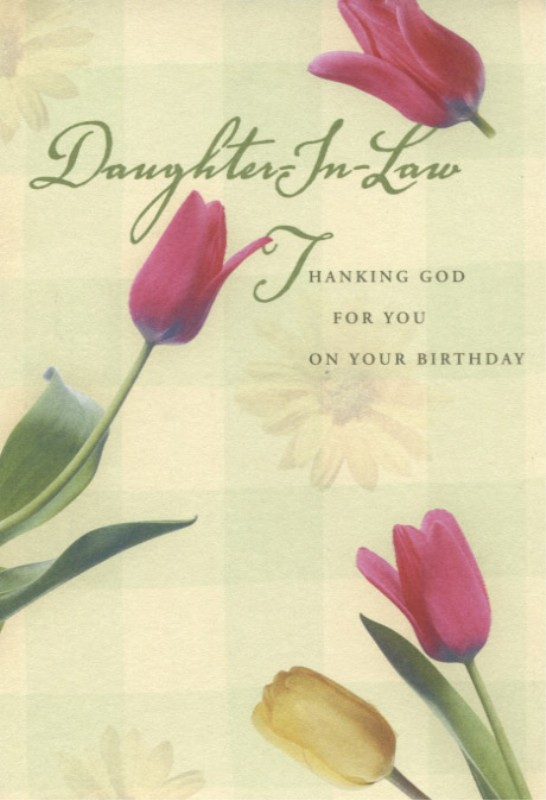 Daughter-In-Law Thanking God for You - Birthday Card (Dayspring 2181-5 ...